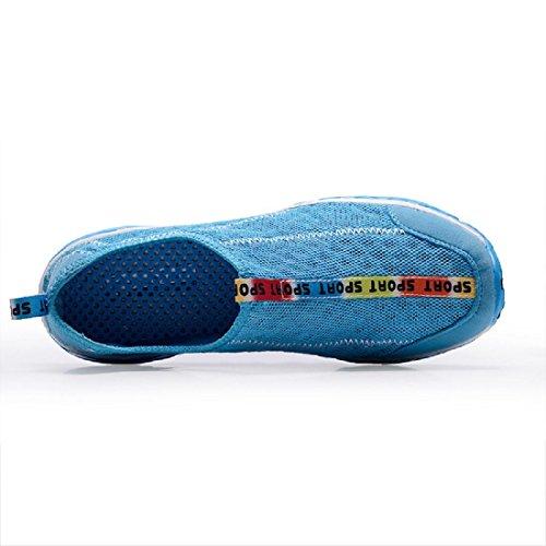 Uomo Scarpe da ginnastica traspirante Scarpe casual Leggero Scarpe da corsa formatori Scarpe pigri Blue