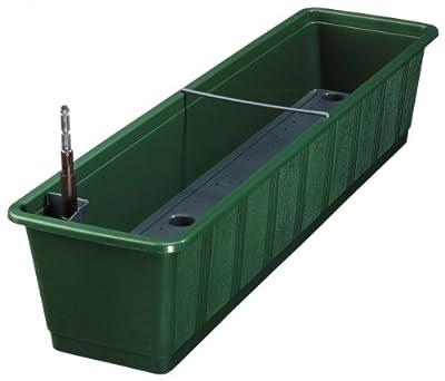 Blumenkasten AQUA GREEN Plus incl. Bewässerung und Wasserstandsanzeiger von geli Thermo Plastic bei Du und dein Garten