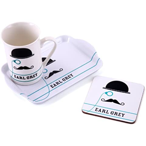 Earl Grey - Time For Tea - Mug Coaster & Tray Gift Set