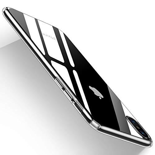 Humixx iPhone XS Hülle(spezielles Design für iPhone XS), Anti-Fingerabdruck, Anti-Scratch FeinMatt Federleicht Hülle Bumper Cover Schutz Tasche Schale Hardcase für iPhone XS-Transparent.