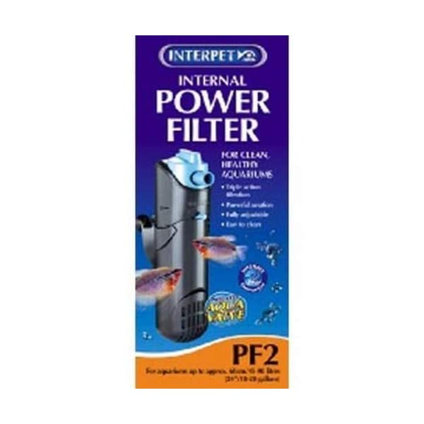 Interpet Internal Aquarium Fish Tank Mini Power Filter, Cleans Water, for Coldwater & Tropical Aquariums Up to 40 Litre