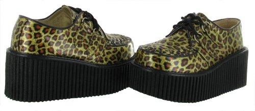 Demonia , chaussures classiques femme Paillettes/doré