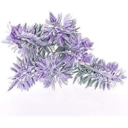 JimTw-FR 5pcs Lavande Bouquet De Fleurs Artificielles Romantique Provence Simulation Décor Des Décorations De Noël Maison Mariage Jardin Des Plantes