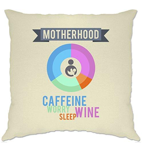 Mutterschaft Zutaten gedruckt Slogan Zitat Design Premium Polsterbezuge (Neuheit Tees Mutterschaft)