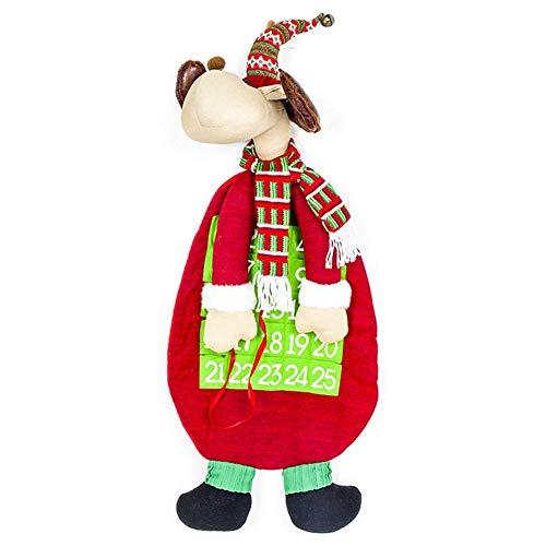 (iStary 2018 Weihnachts Countdown-Kalender Puppen Mini Santa Claus Schneemann Rentier Geschenkanhänger Weihnachtsgeschenk Anhänger Für Weihnachten Adventskalender Geschenk Etiketten Christbaumschmuck)
