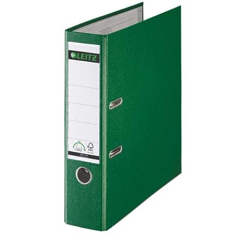 Leitz 10105055 Qualitäts-Ordner Plastik-Cover (A4, 8 cm Rückenbreite) grün