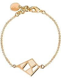 Skalli - Bracelet chaîne - Laiton - The Nest - 13 cm - NS04VD Crème