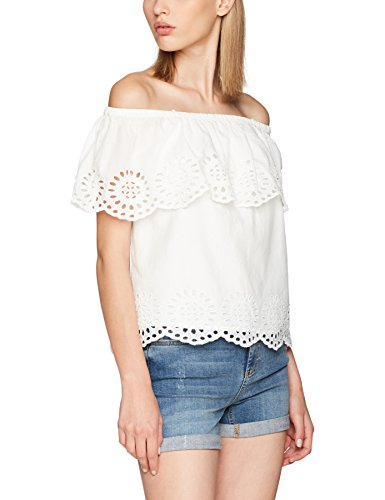 VILA CLOTHES Damen Visimma Off Shoulder Top GV, Weiß (Cloud Dancer), 36 (Herstellergröße: S)