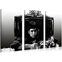 Gallery of Innovative Art – Scarface – 120x80cm – Larga stampa su tela per decorazione murale – Immagine su tela su telaio in legno – Stampa su tela Giclée – Arazzo decorazione murale