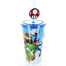 Super Mario Bros. 16oz Travel Cup With Straw (toynk Exclusive)