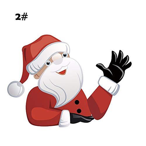 WANGLAI Fenster und Wischer Aufkleber Reflektierende Aufkleber Cartoon Reflektierende Joy Riders Weihnachtsmann Weihnachten Thema Auto Aufkleber Auto Aufkleber Fenster Wischer Decals