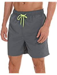 45f9a6dc17 coskefy Swimming Trunks Mens Youth Boys Quick Dry Swim Shorts Leisure  Watershorts