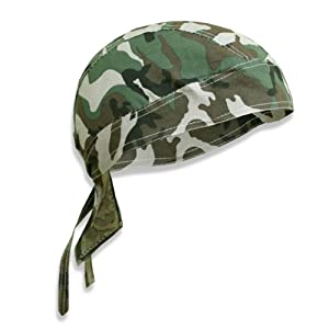 Bandana militaire préformé US Army - Woodland Camouflage - Serrage ajustable - Airsoft - Paintball - Moto - Biker - Outdoor