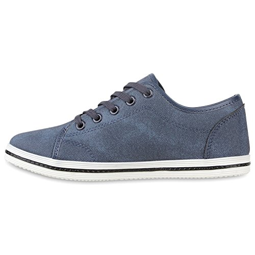 Sportliche Damen Sneakers Sportschuhe Freizeit Schuhe Blau