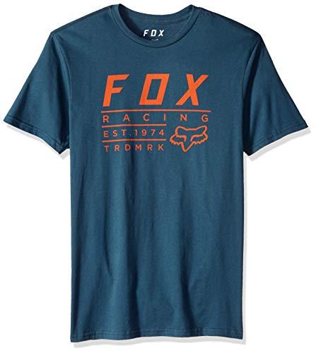 Fox Herren Trdmrk Short Sleeve Premium T-Shirt, Navy, Klein - Fox Navy T-shirt
