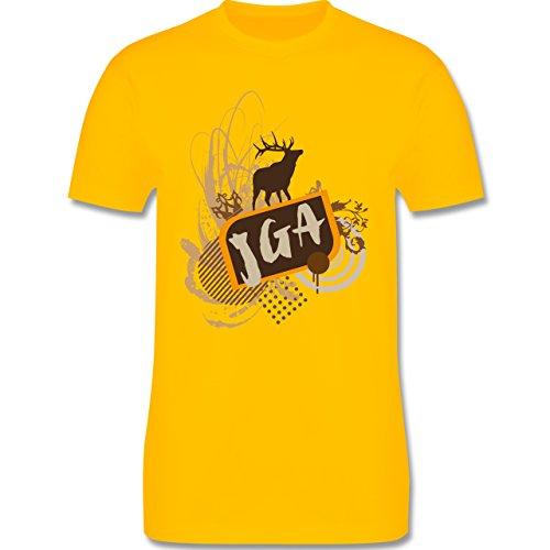 JGA Junggesellenabschied - JGA Hirsch Grunge - Herren Premium T-Shirt Gelb