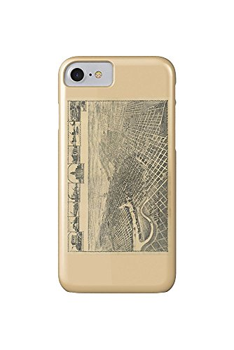Stockton, California Panoramic Map (iPhone 7 Cell Phone Case, Slim Barely There)