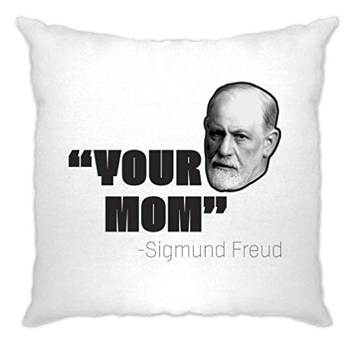 Sigmund Freud Kissenhülle Ihre Mutter Historical Witz White One Size