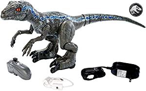 Jurassic World Figura Alpha entrenando al dinosaurio de juguete Blue (Mattel GCK29)