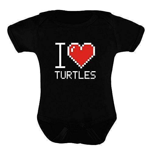 Idakoos I love Turtles pixelated - Animaux - Barboteuse