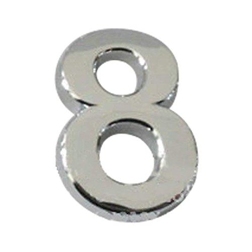 5Five Plaque autocollante en Chrome plaqué, Compatible pour numéro de Porte, Voiture, adresse, Chiffres, numéro 8