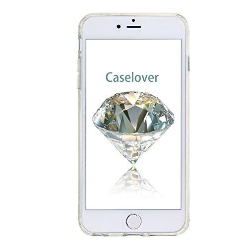 Coque iPhone 6s , Glitter Liquide TPU Etui Coque pour iPhone 6 ,CaseLover Fleur MMotif Mode Etui Coque Dynamic Etoiles Paillettes Sable TPU Slim pour Apple iPhone 6 / 6S (4.7 pouces) Mode Flexible Sou Winnie