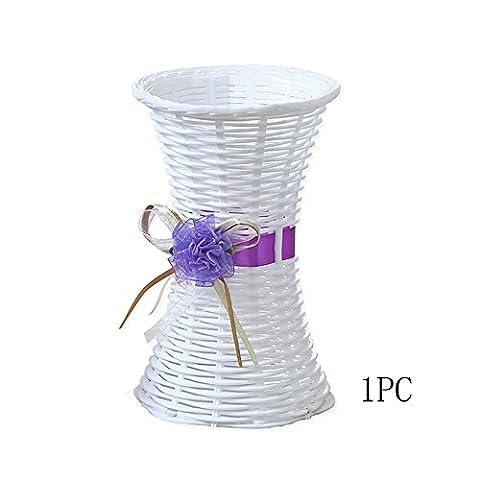Conjugal Bliss 1pièce Ikebana Pot de fleurs avec petite taille Plastique Pot de fleurs roses Lavande œillets Pot de fleurs en porcelaine décorée avec des vases (ne contient pas de bouquet)