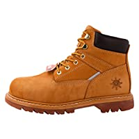 GW Men's 1606ST Wheat Steel Toe Work Boots 12 M US