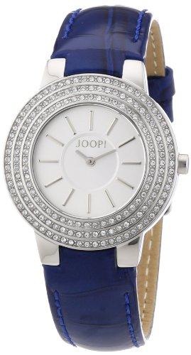 Joop - JP100992F04 - Nova - Montre Femme - Quartz Analogique - Cadran Argent - Bracelet Cuir Bleu