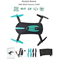 Price comparsion for OurKosmos JY018 RC Drone Quadcopter, Mini Foldable WIFI FPV Quadcopter with 2.0 MP 720P HD Camera,Headless Mode,3D Flip,4 Channel 6 Axis Altitude Hold Pocket Selfie Drone