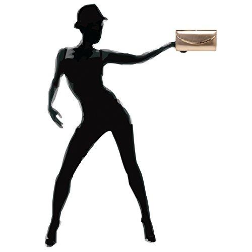 CASPAR TA383 Donna Pochette con Patta Arrotondata e Decorazione in Metallo oro rosa Edición Limitada De La Venta Barata Envío Libre Muy Barato sISUsXoGpJ