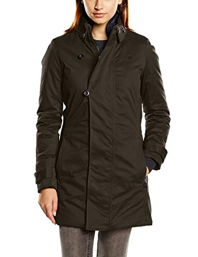 g star whistler damen G-STAR RAW Damen Mantel Minor Slim Trench Wmn-D09702, Grau (Asfalt 995), X-Large