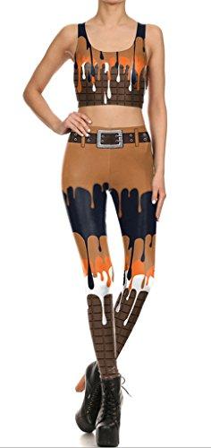 Belsen - Legging - Femme multicolore Leggings L Vest