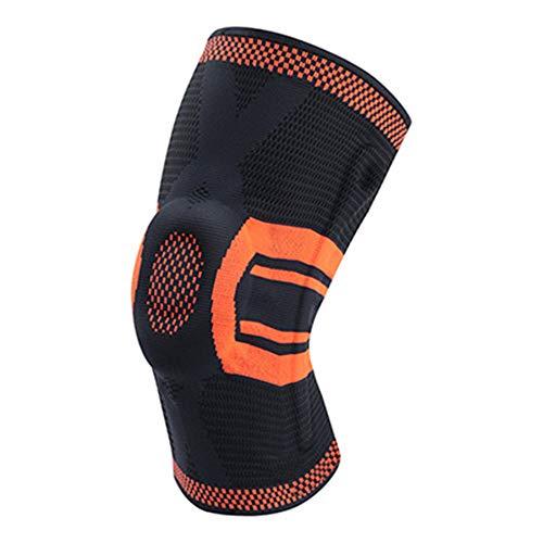 WXQQ SportFixierbare Kniebandage Für Mehr Stabilität Beim Sport & Im Alltag, Knieschutz Beim Laufen & Joggen, Unterstützt Schmerzlinderung Bei Gelenkkrankheiten Wie ArthroseOrange