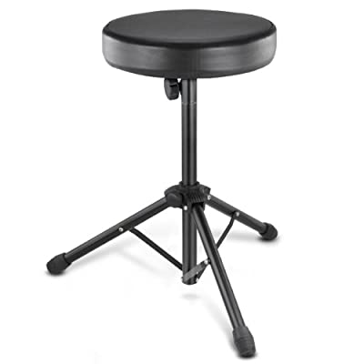 chinkyboo Drum Throne Padded Seat Stool Stand Drummers Music Rock Band Chair