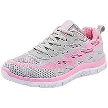 Yvelands Moda Mujeres Liquidación Volar Tejer Calzado Casual Zapatos para Caminar al Aire Libre Pisos Zapatos