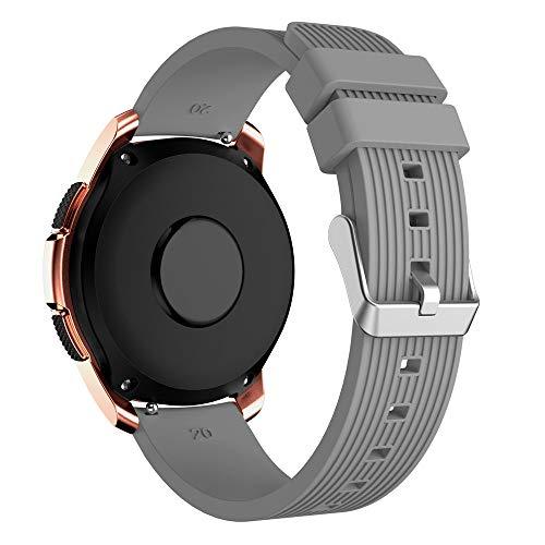 YBWZH Weiche Silikon-Uhrenarmband-Ersatzarmband für Samsung Galaxy Watch 42mm(Grau)