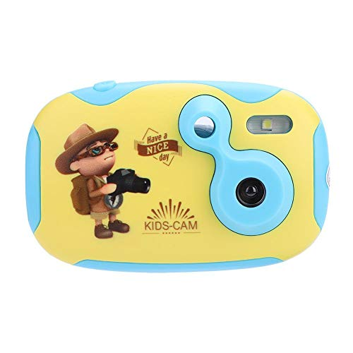 Elerose Fotocamera per bambini, Mini Fotocamera Digitale Impermeabile Cartoon Anti-Drop con Batteria incorporata, Regalo per ragazzi e ragazze(Giallo)