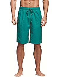 Adidas Boys 3-Stripes Classic Middle Length Swimming Shorts.