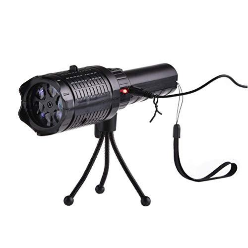 1Buy 4W LED Projektor Licht, Handheld Wiederaufladbare Weihnachten Muster Taschenlampe mit 12 Muster Diaprinzipien und Stativ für Weihnachtsdekoration