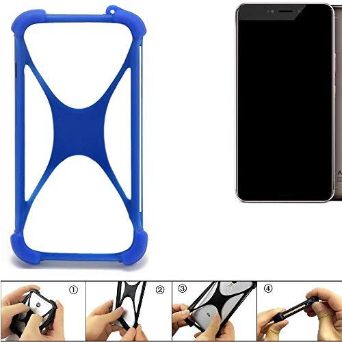 K-S-Trade Handyhülle für Allview X4 Xtreme Silikon Schutz Hülle Cover Case Bumper Silikoncase TPU Softcase Schutzhülle Smartphone Stoßschutz, blau (1x)