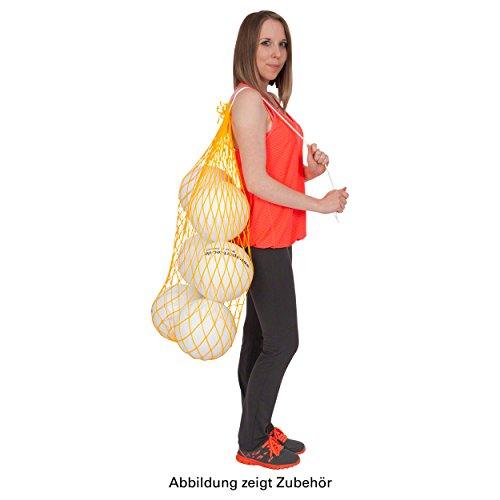 Ballnetz Balltragenetz Balltasche für Bälle Fußbälle Handbälle, GELB