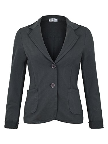 Damen Blazer Vintage Style (611), Farbe:Steingrau, Blazer 1:38 / M