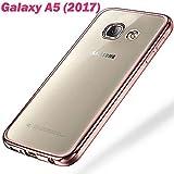 tomaxx Schutzhülle für Samsung Galaxy A5 2017 Hülle Tasche Durchsichtig Transparent Rand - Rosa