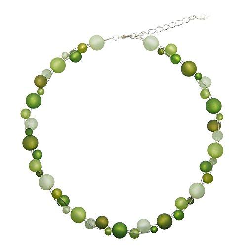 perla pd design Halskette aus echten Polarisperlen ca. 45 cm + 4.5 cm PK1220 grün