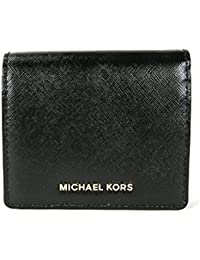 MICHAEL MICHAEL KORS Jet Set Travel Medium Leather Card Holder (Black)