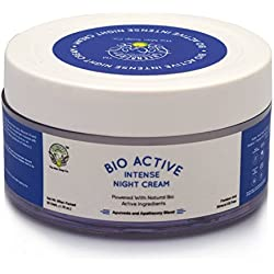 Greenberry Organic's Bio Active Intense Night Cream | INTENSE REPAIR & HYDRATION FORMULA (Anti-Ageing/Wrinkles, Pigmentation, Brightening, Dry Skin Treatment, Natural Even Tone) | PARABEN AND MINERAL OIL FREE (50 GMS)