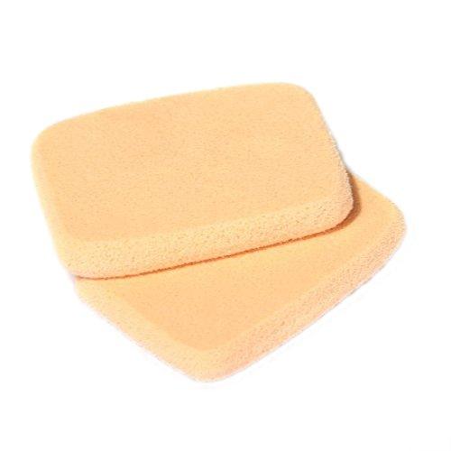 houppe a poudre - SODIAL(R) 2 x Pro Maquillage Melangeur Fondation de melange en eponge houppe a poudre couleur de la peau