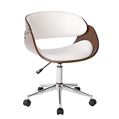 Life Carver Height Adjustable Swivel Bedroom Home Office Desk Chair Salon Dressing Table Chairs White & Walnut - cheap UK light store.