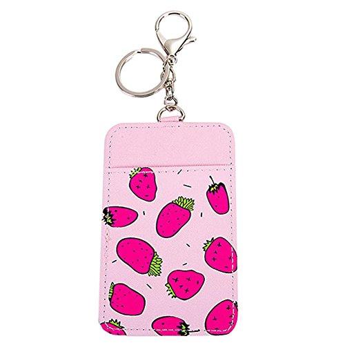 Mackur Schlüsselanhänger mit Fahrausweishüllen Karten Schutzhülle Kreditkarten Personalausweis Hülle mit Schlüsselanhänger 11.6 * 7.3cm 1 Stück (#3)